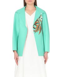 Marni Floral-Motif Leather Jacket - Lyst