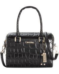 Calvin Klein Claudia Leather Satchel - Lyst
