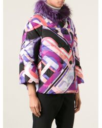 Emilio Pucci Trimmed Collar Padded Jacket - Lyst