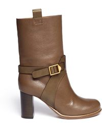 Chloé Ankle Harness Leather Boots - Lyst