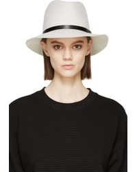 Rag & Bone Off_White Wool Fedora - Lyst