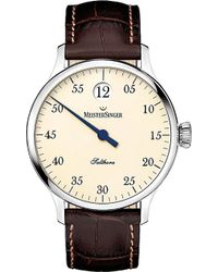 Meistersinger Sh903 Salthora Meta Stainless Steel And Leather Watch - For Men - Metallic