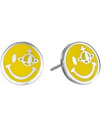 Vivienne Westwood Smiley Earrings yellow - Lyst