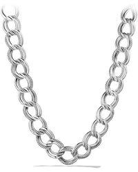 David Yurman Curb Link Wide Necklace - Lyst