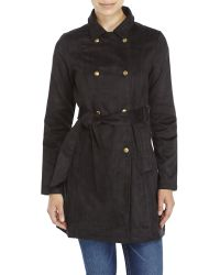 Re:named - Faux Suede Trench Coat - Lyst