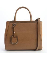 Fendi Brown Mini 2jours Convertible Top Handle Bag - Lyst