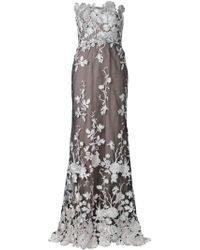 Notte by Marchesa Floral Gown Dress - Lyst