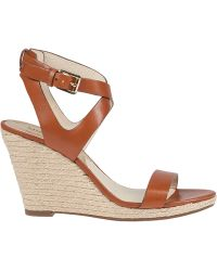 MICHAEL Michael Kors | Kaylee Wedge Vachetta Leather | Lyst