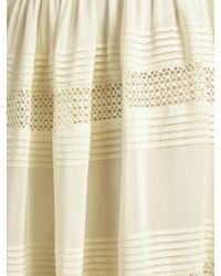 Somerset by Alice Temperley - Lace Insert Silk Skirt - Lyst