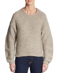 Helmut Lang Cropped Wool-Blend Sweater - Lyst
