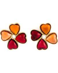 Yves Saint Laurent Vintage 'Love Clover' Earrings - Lyst