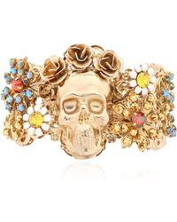 Halo - English Garden Skull Cuff Bracelet - Lyst