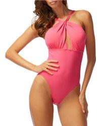Carmen Marc Valvo - Daiquiri Scoop Neck One-piece Swimsuit - Lyst