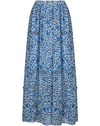Somerset by Alice Temperley | Leopard Print Maxi Skirt | Lyst