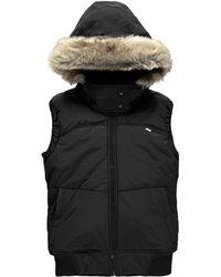Bench Pushbroom B Gile Faux Fur Trimmed Vest - Black