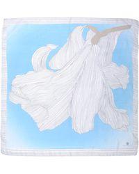 Rena Lange Square Scarf - Blue