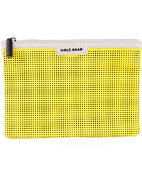 Cole Haan Marin Leather Pouch - Yellow