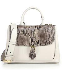 Burberry | Python & Leather Saddle Bag | Lyst