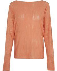 Oska Orange Kim Circle Knitted Top
