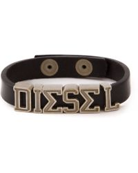Diesel 'Askyt' Bracelet brown - Lyst