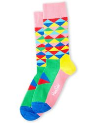 Happy Socks Triangle Socks - Lyst