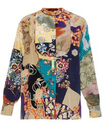 Gucci Japanese-Print Silk Shirt multicolor - Lyst