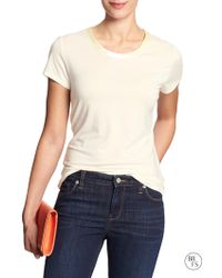 Banana Republic Factory Scoop-Neck Luxe-Touch Tee - Lyst