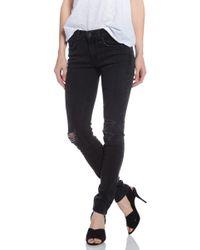 Rag & Bone Skinny Jean With Holes - Lyst