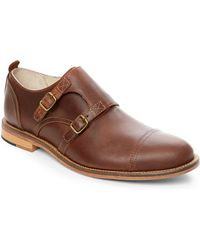 J SHOES Brown Troop Monk Strap Oxfords - Lyst