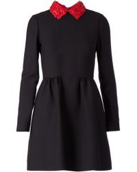 Valentino Contrasting Collar Dress - Lyst
