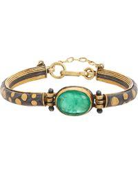 Judy Geib - Colombian Emerald Gold Sterling Silver Lovely Bracelet - Lyst