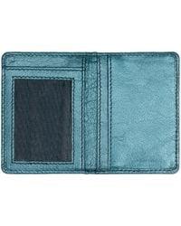 Jigsaw Leather Travel Card Holder - Blue