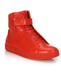 Susudio Single Strap High Tops - Red