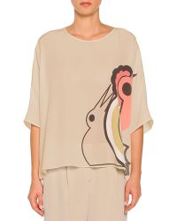 Piazza Sempione Abstract Parrot-Print Oversized Tunic - Lyst