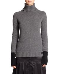 Fendi Cashmere Turtleneck Sweater gray - Lyst