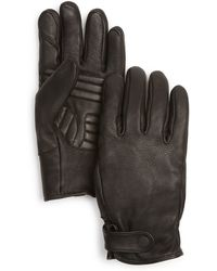 Theory Rause Deer Leather Gloves - Black