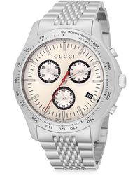 Gucci G-timeless Stainless Steel Chronograph Watch - Lyst