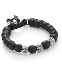 King Baby Studio | Wrap Leather and Sterling Silver Bracelet | Lyst