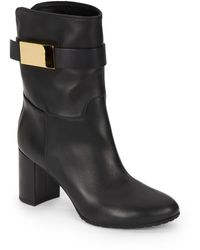 Giuseppe Zanotti Leather Top Strap Ankle Boots - Lyst
