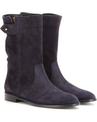 Burberry Brit - Lyndhurst Suede Boots - Lyst