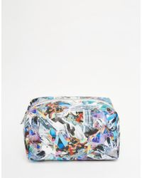 Jaded London - Holographic Crystal Print Make-up Bag - Lyst