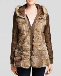 BCBGMAXAZRIA Coat - Savannah Anorak - Natural