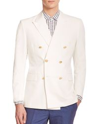 Kent And Curwen Double-Breasted Blazer - Lyst