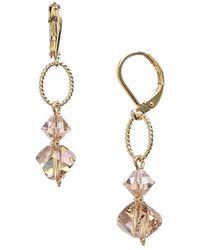 Dabby Reid 'lyla' Swarovski Crystal Mix Earrings - Light Colorado - Metallic