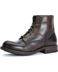 Frye Sutton Mid-height Lace-up Boot - Lyst