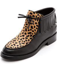 Rachel Comey Dorcha Fringe Booties  Cheetah Combo - Lyst