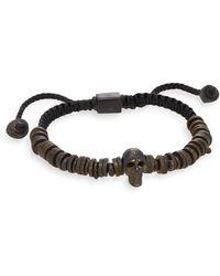 Jan Leslie - Beaded Skull Cord Bracelet - Lyst
