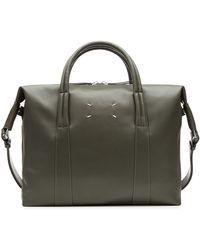 Maison Margiela Leather Messenger Bag - Lyst