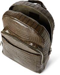 Santiago Gonzalez Khaki Crocodile Backpack - Lyst