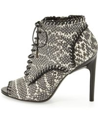 Jason Wu Laceup Snake Ankle Boot - Lyst